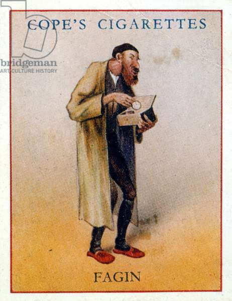 "Fagin from Dickens' ""Oliver Twist"": (illustration from Cope's cigarette cards)"