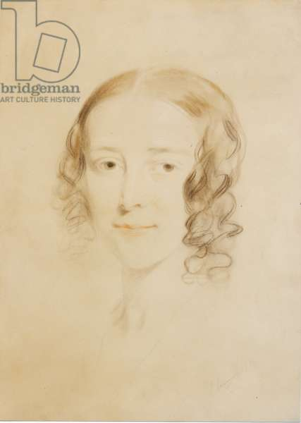 Frances Elizabeth Dickens (Fanny Burnett), 1836 (pastel & crayon on paper)