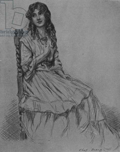 Rosa Budd, 1912 (chalk & charcoal on paper)