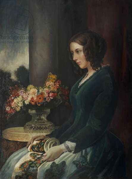 Portrait of Catherine Dickens, c.1847 (oil on canvas)