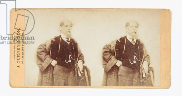 Stereograph of Charles Dickens, 1867 (photo)