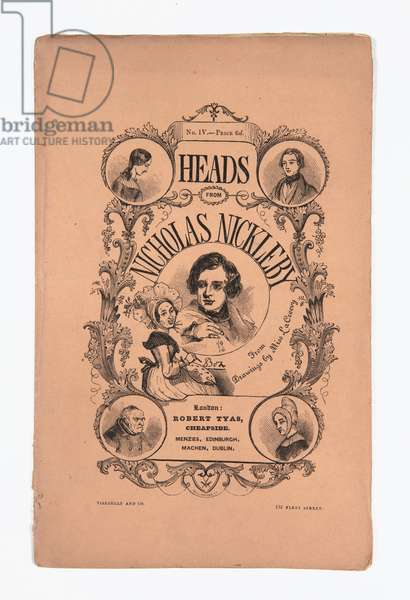 Heads from Nicholas Nickleby' by Robert Tyas, 1839-40 (litho)