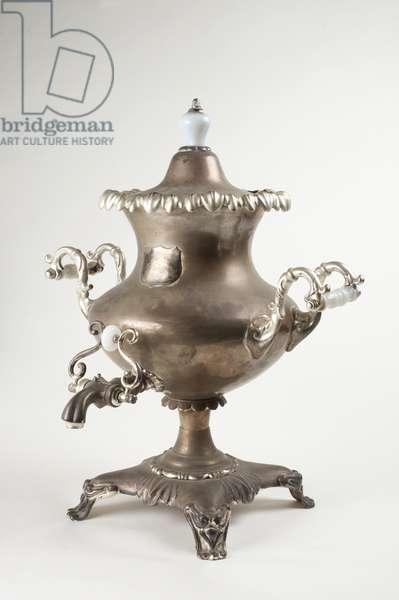 Samovar, 1850-60 (silver plate)