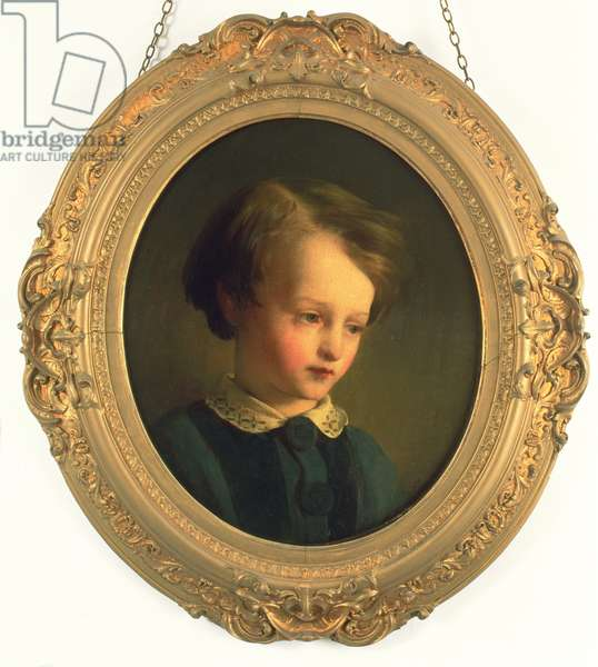 Painting of a boy, Dickens' ideal Little Paul ('Dombey and Son') (oil on canvas)