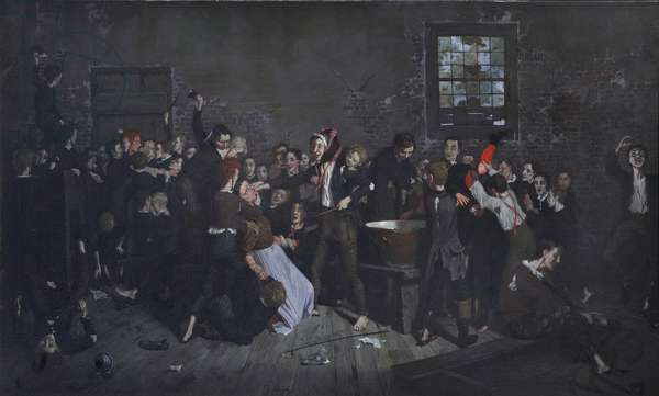 Dotheboys Hall Breaks Up Forever, 1862-1922 (oil on canvas)