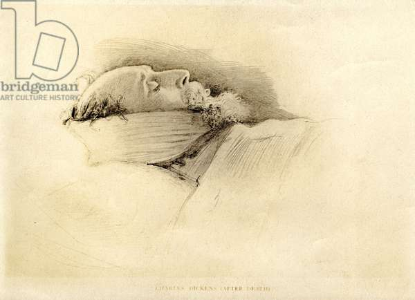 Dickens, the Day After His Death, 1870 (pencil on paper)