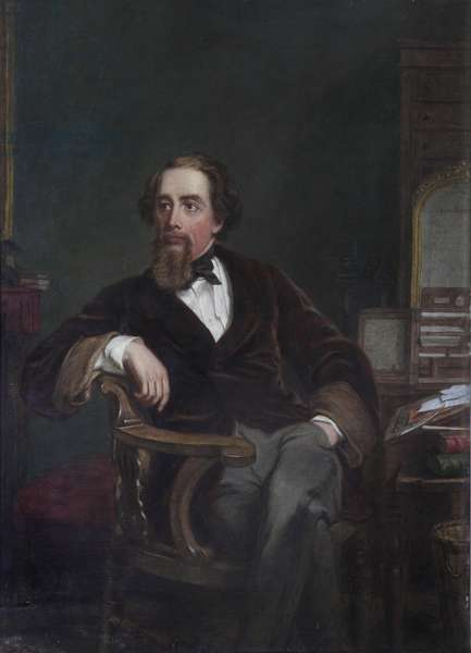 Charles Dickens, 1886 (oil on canvas)