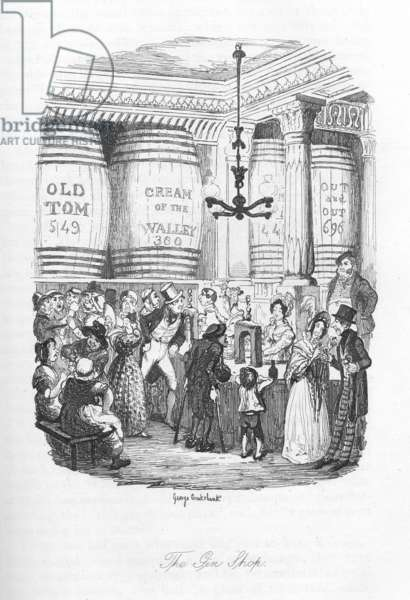 The Gin shop, c.1836 (litho)
