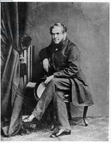 Portrait of John Forster (1812-76) (b/w photo)
