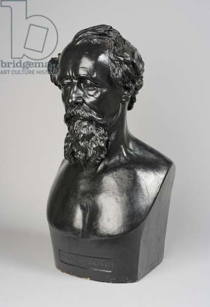 Copy of a bust of Charles Dickens, 1871 (plaster)