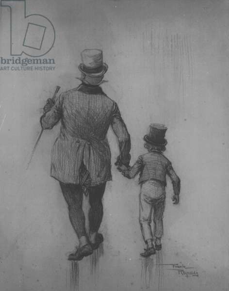 David Copperfield and Mr. Micawber, 1911 (pencil on paper)
