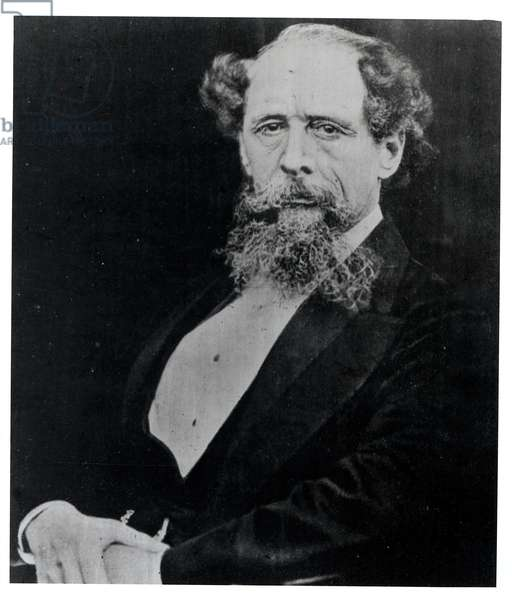 Charles Dickens (1812-70) about the age of fifty, photographed by Mason & Co., c.1862 (photo)