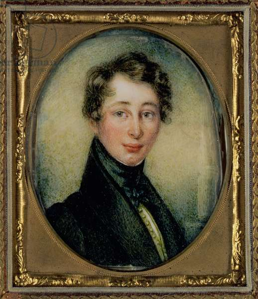 Portrait of Charles Dickens (1812-70) aged 18, 1830 (oil on panel)