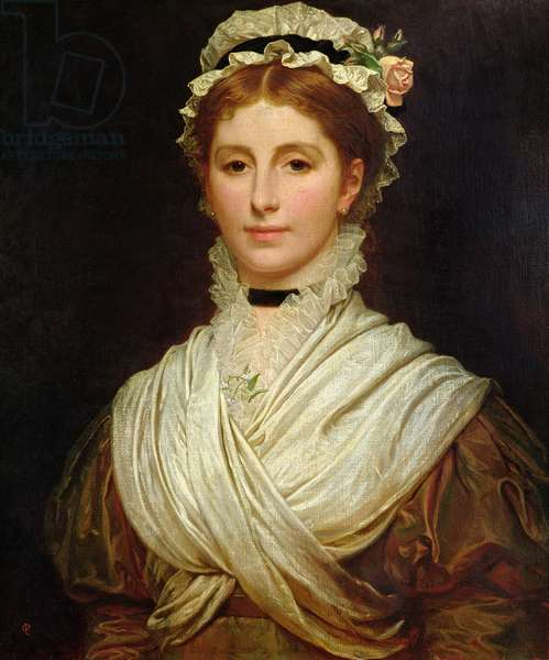 Portrait of Katey Perugini by her husband, 1873-75 (oil on canvas)