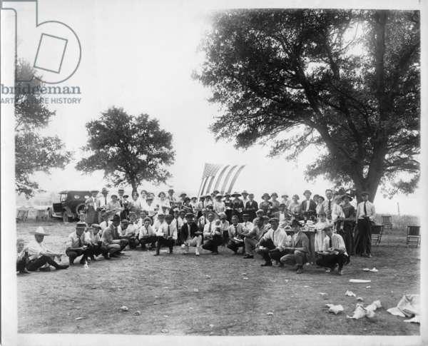Klan and Families, 1920s (b/w photo)