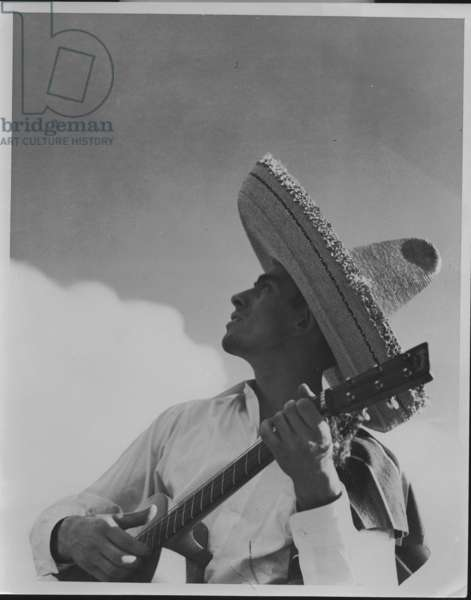 Mexican Señor with a guitar, 1935-36 (b/w photo)