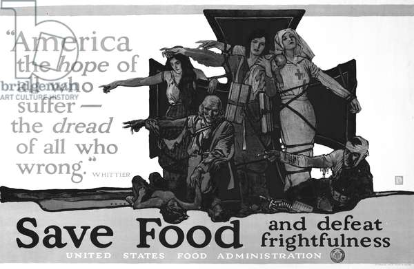 Save Food and defeat frightfulness (litho)