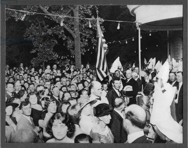 Klan at Hope Cottage, September 7, 1923 (b/w photo)