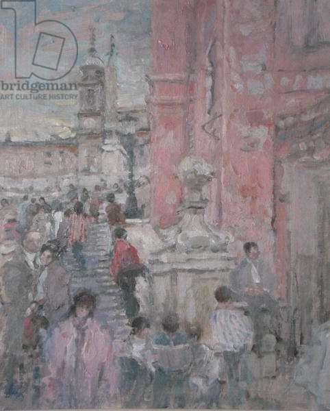 The Spanish Steps, Rome (oil)