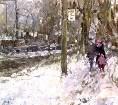 Kew in the Snow, 1991