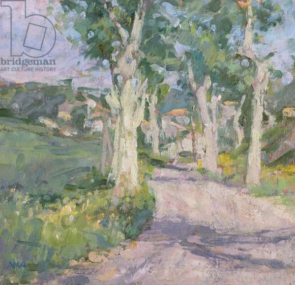 The Road to the Village, France (oil on canvas)