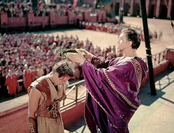 Charlton Heston And Frank Thring, Ben-Hur 1959 Directed By William Wyler