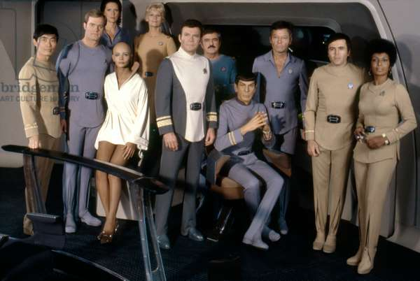 George Takei, Stephen Collins, Majel Barrett, Persis Khambatta, Grace Lee Whitney, William Shatner, James Doohan, Leonard Nimoy, Deforest Kelley, Walter Koenig And Michelle Nichols.