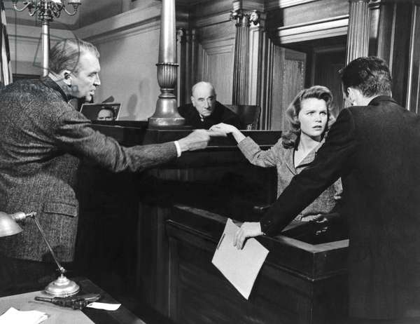 James Stewart, Lee Remick And George C. Scott., Anatomy Of A Murder 1959 Directed By Otto Peminger
