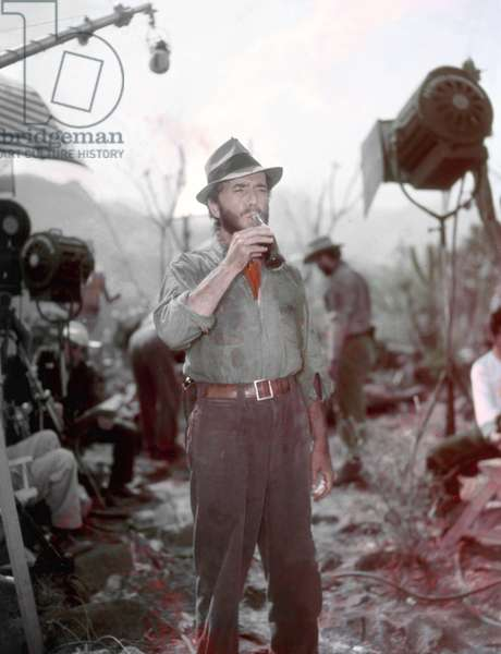 On The Set, Humphrey Bogart, The Treasure Of The Sierra Madre 1948 Directed By John Huston