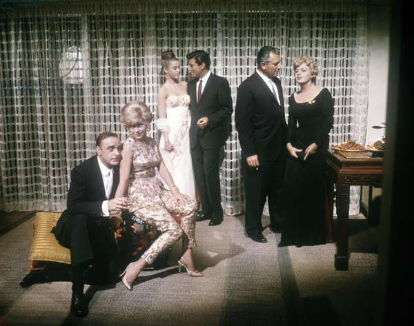 John Dehner, Glynis Johns, Jane Fonda, Efrem Zimbalist Jr., Harold J. Stone and Shelley Winters. -The Chapman Report - Les liaisons coupables 1962 directed by George Cukor (photo);Warner Bros.