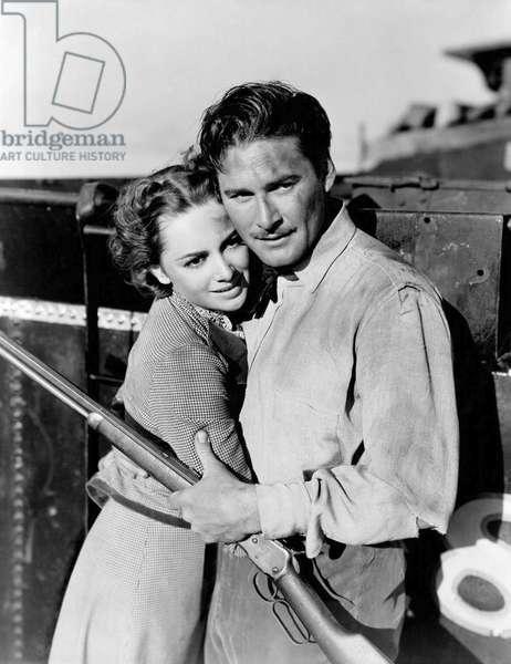 Olivia De Havilland And Errol Flynn, Dodge City 1939 Directed By Michael Curtiz