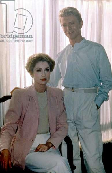 Les predateurs FAIGER de Tony Scott avec David Bowie et Catherine Deneuve, 1983 (photo)