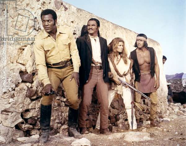 Jim Brown, Burt Reynolds And Raquel Welch.