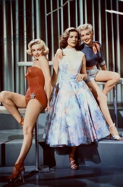 Maeilyn Monroe, Lauren Bacall And Betty Grable.