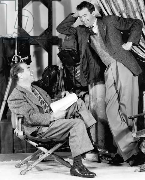 On The Set, Frank Capra (Director) With James Stewart, You Can'T Take It With You 1938 Directed By Frank Capra