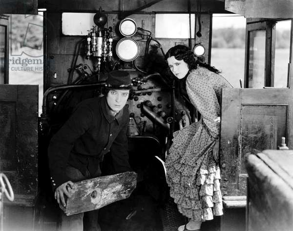 Buster Keaton And Marion Mack