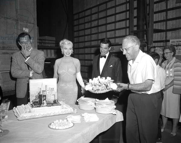 On The Set,Yves Montand, Marilyn Monroe And George Cukor (Director).