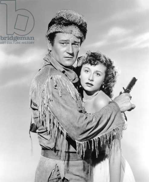John Wayne And Vera Ralston