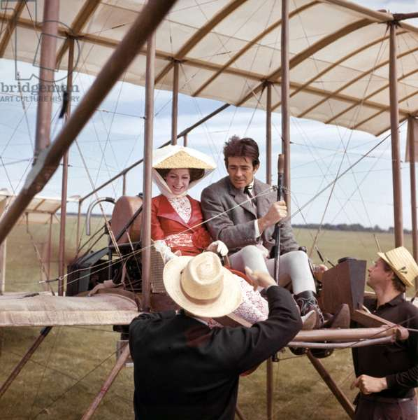 On The Set, Ken Annakin (Director) Directs Stuart Whitman Sarah Miles, Those Magnificent Men In Their Flying Machines 1965 Directed By