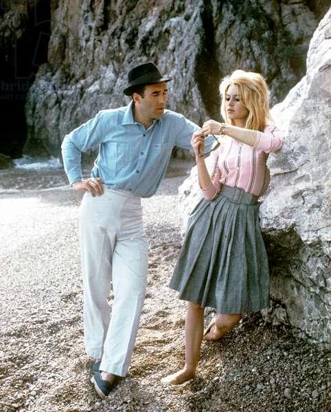 Michel Piccoli And Brigitte Bardot