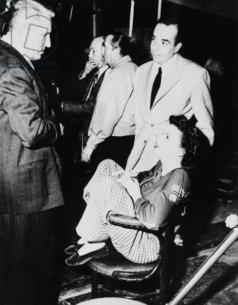 On The Set, Vincente Minnelli With Judy Garland And Spencer Tracy.