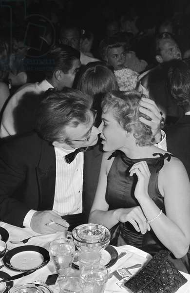 Los Angeles - August 29: Movie Star James Dean And Swiss Born Actress Ursula Andress Attend The Thalian Ball On August 29 1955 At Ciro'S Nightclub In Los Angeles, California. Dean Died One Month Later.
