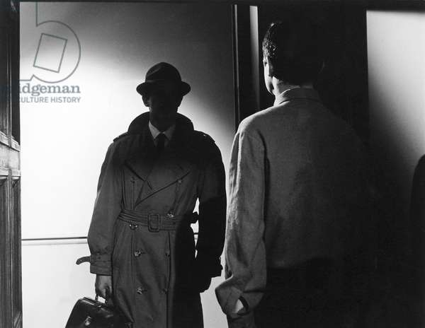 Jean-Paul Belmondo And Serge Reggiani, Le Doulos 1963 Directed By Jean Pierre Melville