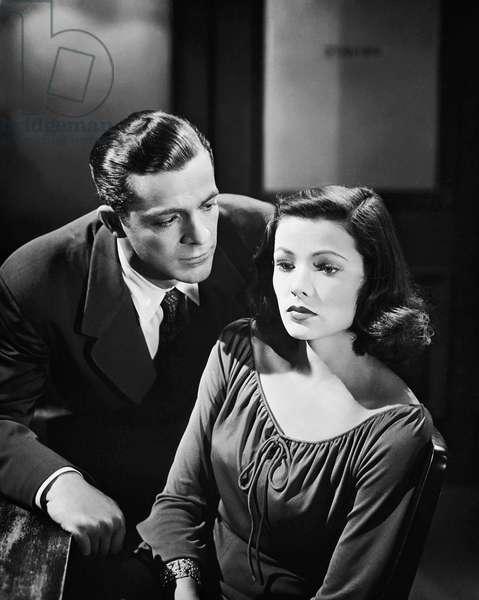 1944: Dana Andrews Puts The Spotlight On Gene Tierney During The Interrogation Scene Of The Film Noir,