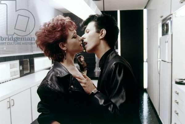 Les predateurs THE FAIGER de Tony Scott avec Ann Magnuson et David Bowie, 1983 (photo)