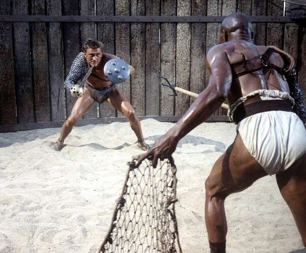 Kirk Douglas And Woody Strode