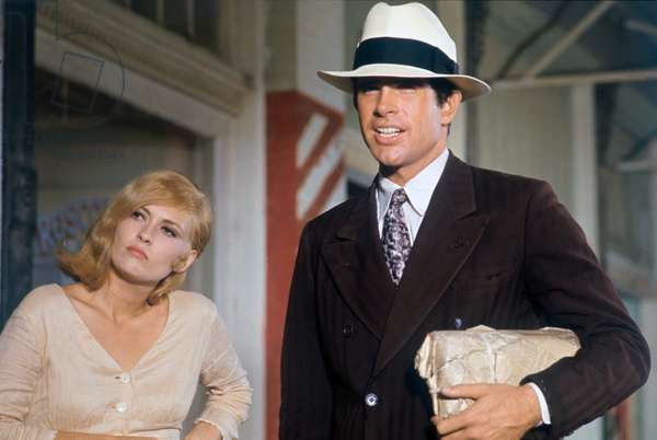 Faye Dunaway And Warren Beatty, Bonnie And Clyde 1967 Directed By Arthur Penn