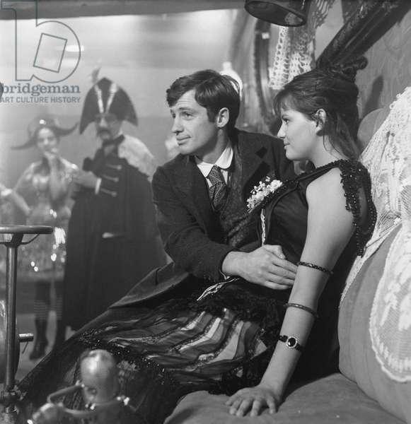 Claudia Cardinale And Jean-Paul Belmondo, La Viaccia 1961 De Mauro Bolognini (The Lovemakers)