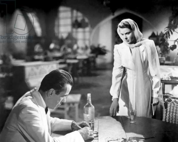 Humphrey Bogart And Ingrid Bergman, Casablanca 1943 Directed By Michael Curtiz