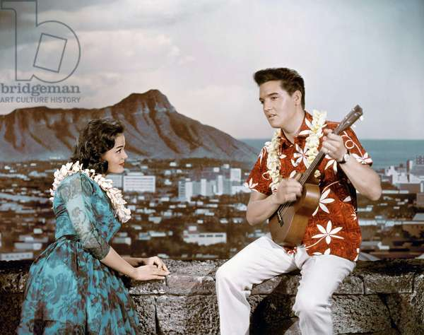 Joan Blackman And Elvis Presley, Blue Hawaii 1961 Directed By Norman Taurog